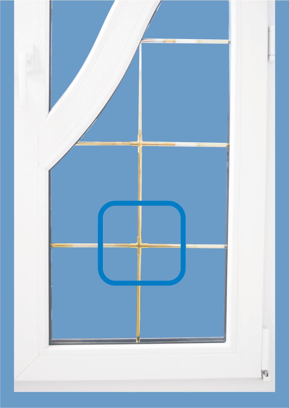 ПВХ окно со шпроссе